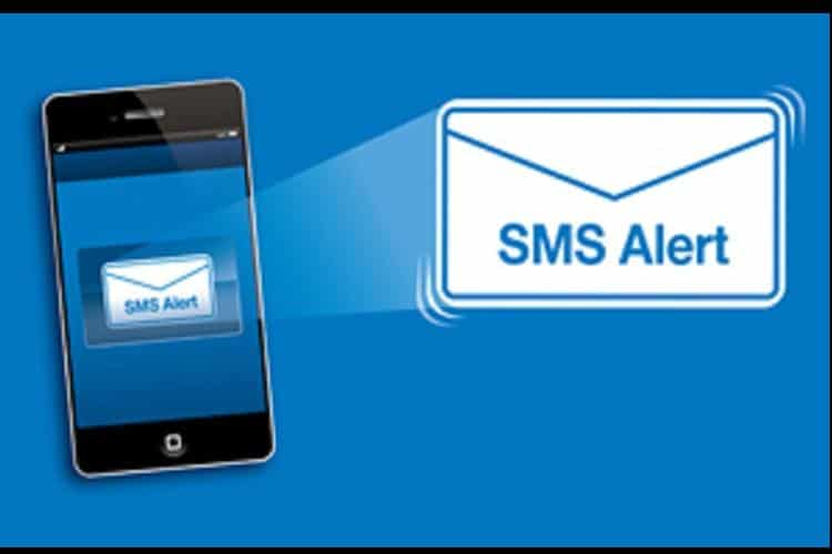 sms alerts craditcards