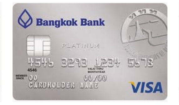 บัตรเครดิตวีซ่าแพลทินัม ท่องเที่ยว ธนาคารกรุงเทพ