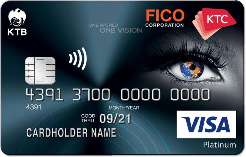 บัตรเครดิต KTC - FICO VISA PLATINUM