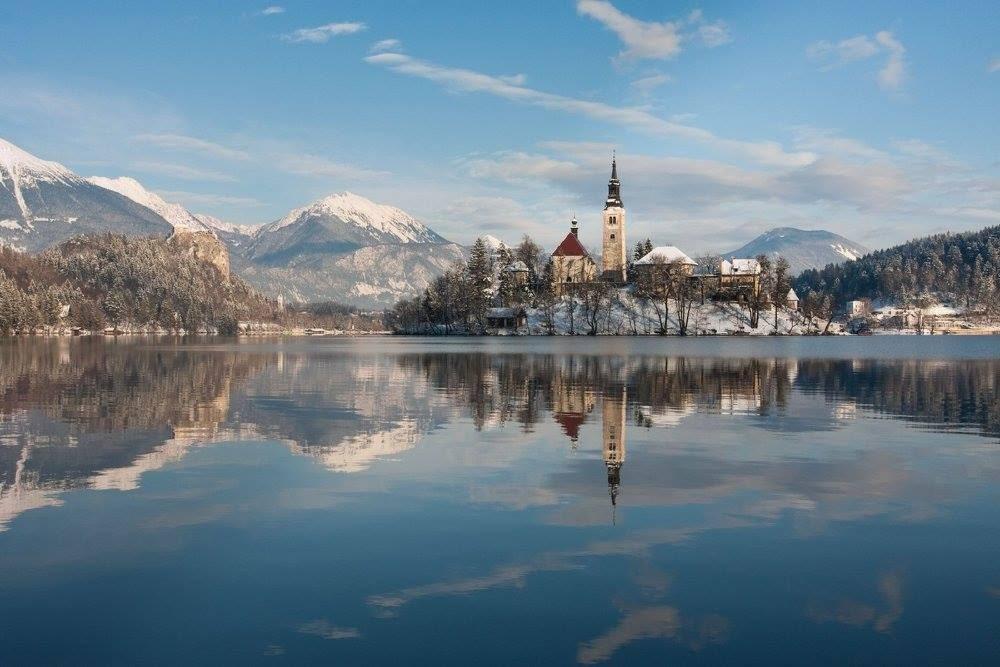 ทะเลสาบ Bled. สโลวีเนีย